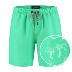 jongens zwemshort magic leopard palm groen