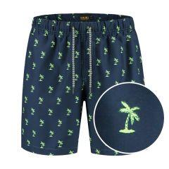 jongens zwemshort palm blauw