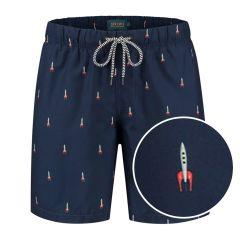 jongens zwemshort rocket blauw