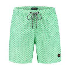 jongens zwemshort kite tile groen