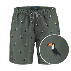 jongens zwemshort tucan groen II