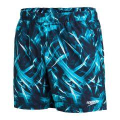 16'' zwemshort water print blauw