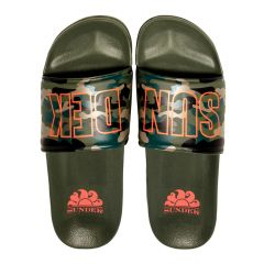 costa camo logo slippers groen