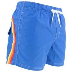 elastic waist zwemshort blauw