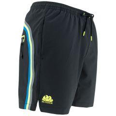 rits side elastic waist zwemshort zwart
