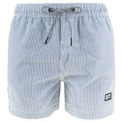 volley seersucker zwemshort stripe wit & blauw