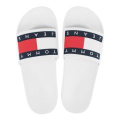 slippers tommy jeans flag wit