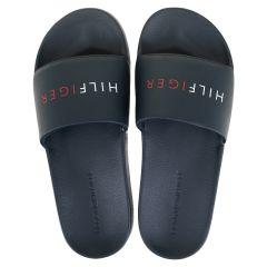 slippers raised hilfiger blauw