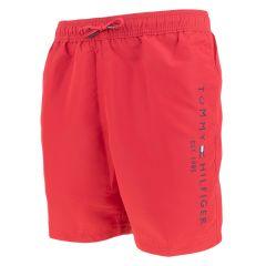 jongens side logo zwemshort rood