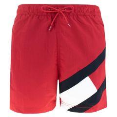 big flag leg logo zwemshort rood