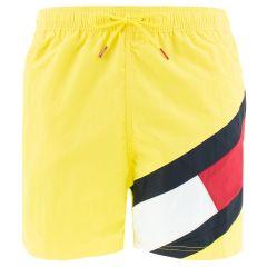 big flag leg logo zwemshort geel