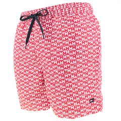 all over TH logo zwemshort rood & wit